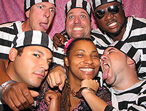jail themed photo booth