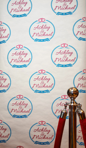wedding step and repeat backdrop